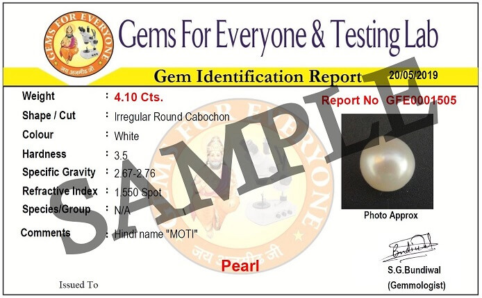Certified Natural (Cultured) Pearl for FREE